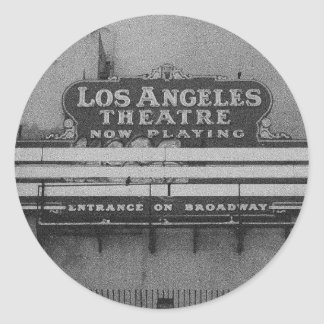 Old Los Angeles Theatre Sign Sticker