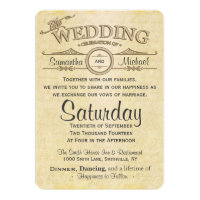 Vintage Paper Design Wedding Invitations Archives Country And