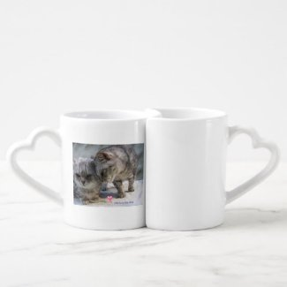 Old love lies deep - cat lovers mug set