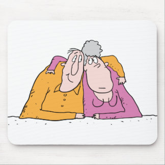 Old Loving Couple Mouse Pad