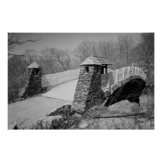 Old Lyme Foot Bridge Photo Poster