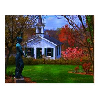 Old Lynchburg Cemetery Church Postcard