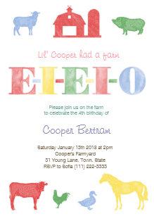 Petting zoo birthday invitations zazzle old macdonald birthday petting zoo party invites filmwisefo