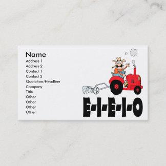 old macdonald eieio cartoon business card