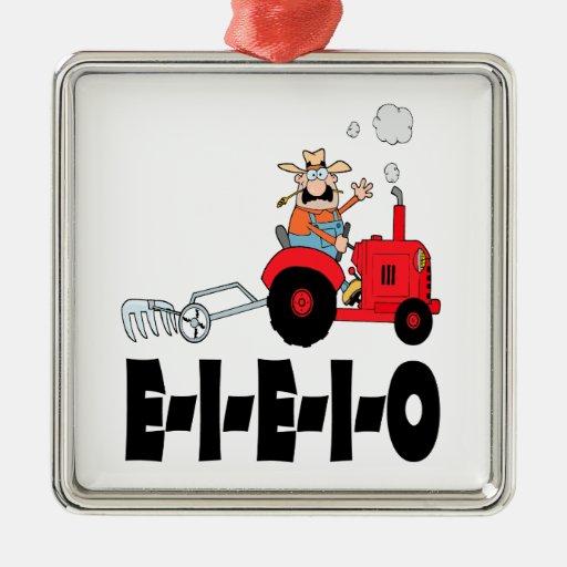 old macdonald eieio cartoon christmas ornament