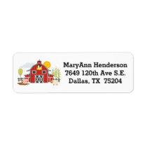 Old Macdonald Farm Barn Address Label