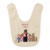 Old MacDonald Had A Farm Reversible Personalized Baby Bib