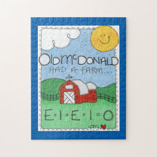 Old MacDonald's Farm Photo Puzzle with Gift Box