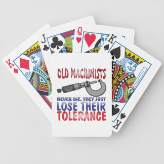 Old Machinists Epitaph Bicycle Playing Cards