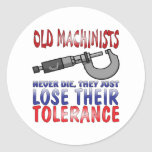 Old Machinists Epitaph Classic Round Sticker