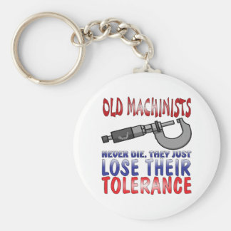 Old Machinists Epitaph Keychain