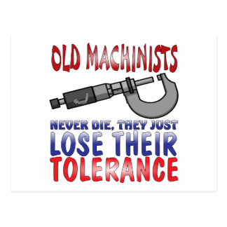 Old Machinists Epitaph Postcard