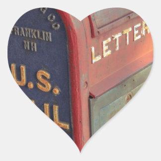 Old Mailbox Heart Sticker