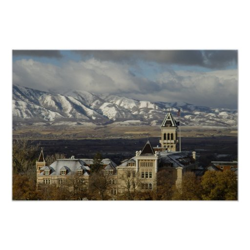 Old Main in Morning Poster