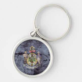 Old Mainer Flag Keychain