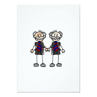 Old Male Lovers 5x7 Paper Invitation Card