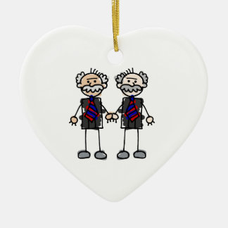 Old Male Lovers Christmas Ornament