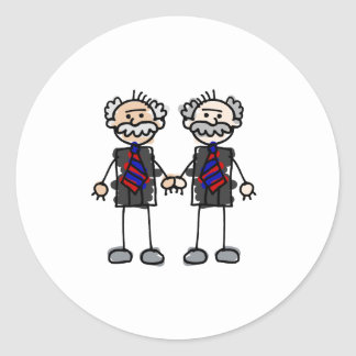Old Male Lovers Classic Round Sticker