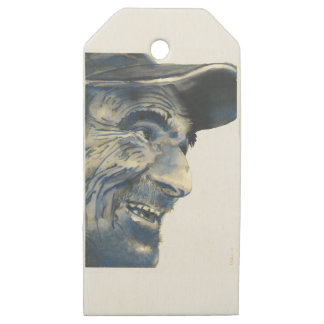 Old Man #002 Wooden Gift Tags