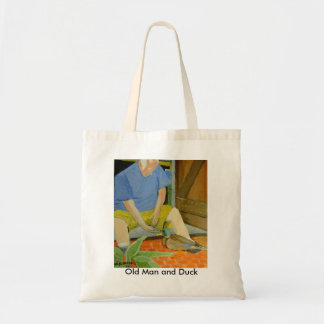 Old Man and Duck Tote Bag