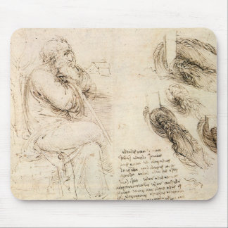 Old Man and Water Sketch by Leonardo da Vinci Mouse Pad