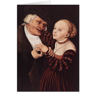 Old Man and Young Woman by Lucas Cranach the Elder Greeting Card