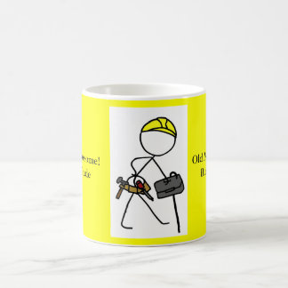 Old Man Awesome Builder Dude Mugs