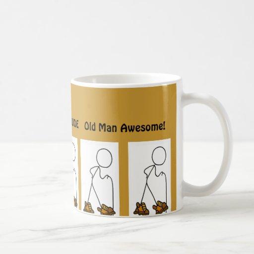 Old Man Awesome Hiker Dude Classic White Coffee Mug