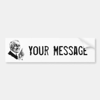 Old Man Been There Done That - Customize It Car Bumper Sticker