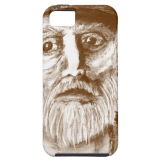 Old Man Brown Charcoal Drawing iPhone SE/5/5s Case