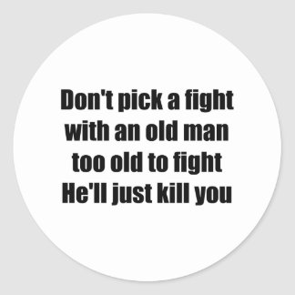 Old Man Classic Round Sticker