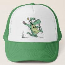 Old Man Croc Cartoon Cap