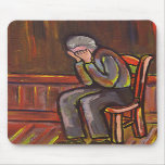 OLD MAN CRYING MOUSE PAD