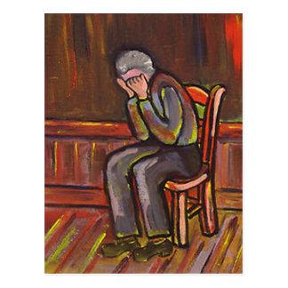 OLD MAN CRYING POSTCARD