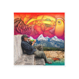 Old Man Dreaming Canvas Prints