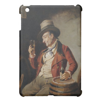 Old Man Drinking Beer Painting iPad Mini Case