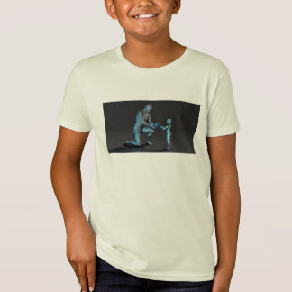 Old Man Giving Earth to a Child as a Conservation T-Shirt