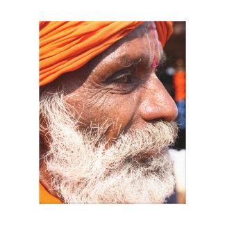 Old Man, Goa Canvas Print