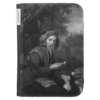 Old Man Holding a Pipe and a jug by Gabriel Metsu Kindle Folio Case