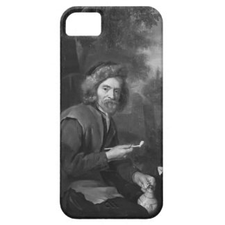 Old Man Holding a Pipe and a jug by Gabriel Metsu iPhone 5 Cover