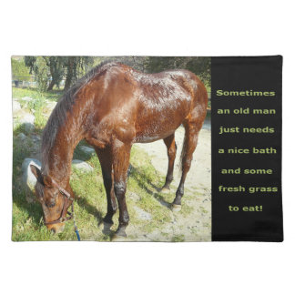 Old Man Horse American MoJo Placemats