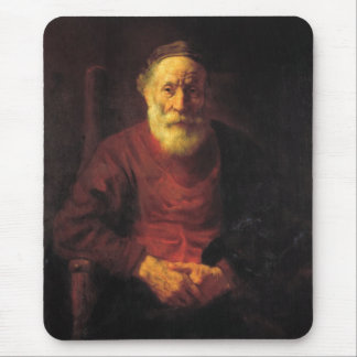 Old man in red - Rembrandt Mouse Pad