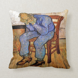 Old Man in Sorrow by Vincent van Gogh 1890 Pillow