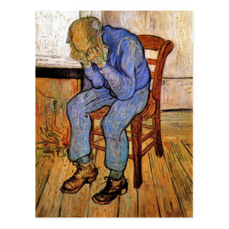 Old Man in Sorrow by Vincent van Gogh 1890 Postcard
