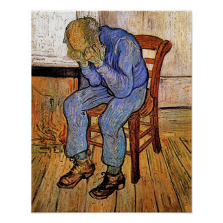 Old Man in Sorrow by Vincent van Gogh 1890 Poster