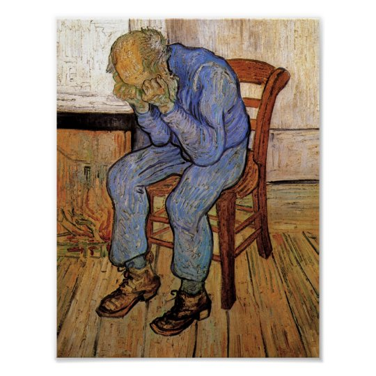 Old Man in Sorrow Van Gogh Fine Art Poster