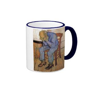 Old Man in Sorrow Van Gogh Fine Art Ringer Mug