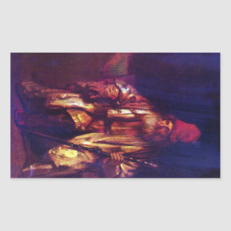 Old man in the armchair 2 by Rembrandt Sticker