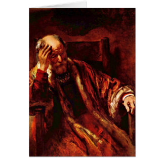 Old Man In The Armchair By Rembrandt Van Rijn Greeting Card