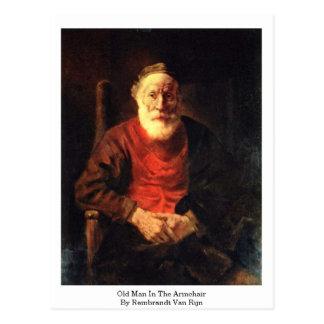 Old Man In The Armchair By Rembrandt Van Rijn Postcard